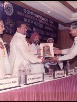 Mr. K.S.Varma receiving the Bharat Nirman Rattan Award